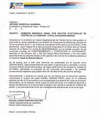Presuntos delitos electorales en campaña a Alcaldía de Yopal denunció Partido Centro Democrático