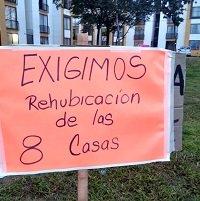 Plantón en Torres de San Marcos oponiéndose a construcción de 8 viviendas