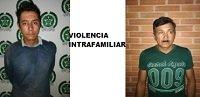 Dos capturados por el delito violencia intrafamiliar