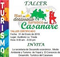 Hoy se realiza taller de construcción del Plan Turístico de Casanare