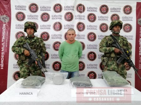 Capturado extorsionista el ELN en Tame