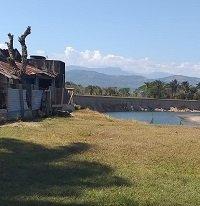 Río Tocaría amenaza varias fincas en el sector de El taladro