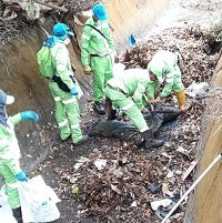 Canales de aguas lluvias de Yopal invadidos por desechos