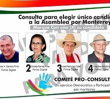 Revelan tarjetón para la consulta a la Asamblea en Monterrey