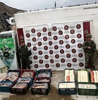 4.320 kilos de cárnicos y lácteos de contrabando incautó el Ejército en Tame