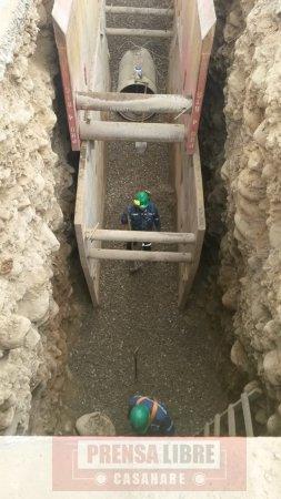 Por ahora no se instalarán más tubos mal rotulados en línea de conducción PTAP definitiva de Yopal