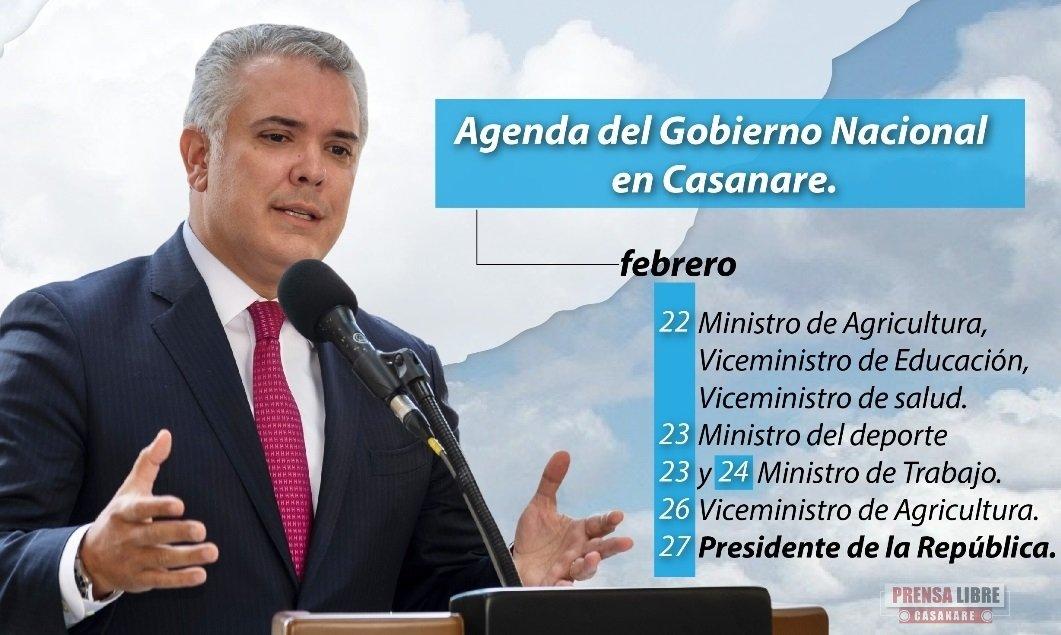 Esta semana visitarán Casanare el Presidente Iván Duque y tres de sus  Ministros » PRENSA LIBRE CASANARE