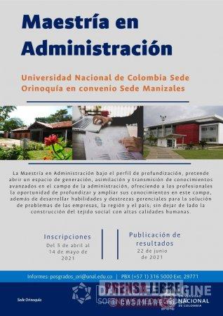 Abiertas inscripciones para maestría en administración en la Universidad Nacional Sede Orinoquía - Noticias de Colombia