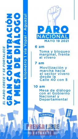 Hoy marchas en varios puntos de Casanare en nueva jornada de paro nacional | Noticias de Buenaventura, Colombia y el Mundo