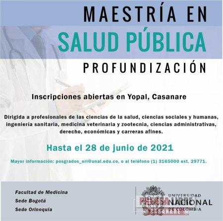 Abiertas en Yopal admisiones a maestría en salud pública de la Universidad Nacional sede Orinoquía - Noticias de Colombia